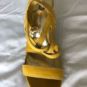 Audrey Brooke Shoes - Audrey Brooke Yellow Sandals